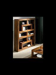 indickynabytok.sk - Knižnica Tara 150x180x30 indický masív palisander, Svetlomedová