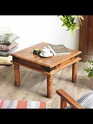 indickynabytok.sk - Konferenčný stolík Jali 45x40x45 indický masív palisander/sheesham, Svetlomedová