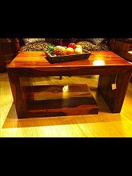 indickynabytok.sk - Konferenčný stolík Tara 110x45x60 indický masív palisander/sheesham, Svetlomedová