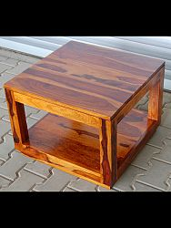 indickynabytok.sk - Konferenčný stolík Tara 60x45x60 indický masív palisander/sheesham, Only stain