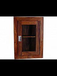 indickynabytok.sk - Nástenná skrinka do kúpeľne 40x60x15 indický masív palisander, Svetlomedová