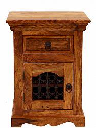 indickynabytok.sk - Nočný stolík Jali 45x60x40 indický masív palisander, Natural