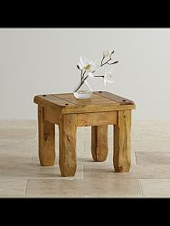 indickynabytok.sk - Odkladací stolík Devi 45x40x45 indický masív mango, Mango natural