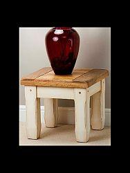 indickynabytok.sk - Odkladací stolík Dhari 45x40x45 indický masív mango
