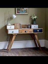 indickynabytok.sk - Písací stôl 130x90x70 indický masív mango