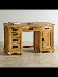 indickynabytok.sk - Písací stôl Devi 160x80x80 indický masív mango, Mango natural