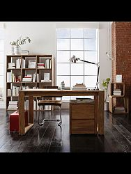 indickynabytok.sk - Písací stôl Gani 130x76x70 indický masív palisander, Svetlomedová