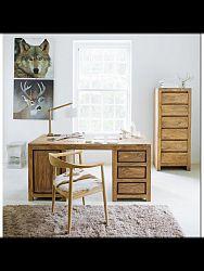 indickynabytok.sk - Písací stôl Gani 160x76x80 indický masív palisander, Svetlomedová