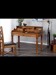 indickynabytok.sk - Písací stôl Jali 130x100x70 indický masív palisander, Svetlomedová