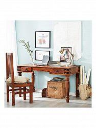 indickynabytok.sk - Písací stôl Jali 130x76x70 indický masív palisander, Only stain