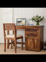 indickynabytok.sk - Písací stôl Mira 130x76x70 indický masív palisander, Svetlomedová