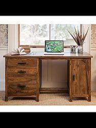 indickynabytok.sk - Písací stôl Rami 160x76x80 indický masív palisander, Svetlomedová