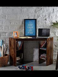 indickynabytok.sk - Písací stôl rohový Kali 120x76x40 indický masív palisander, Svetlomedová