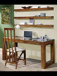 indickynabytok.sk - Písací stôl Tara 110x76x60 indický masív palisander, Only stain