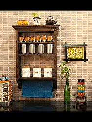 indickynabytok.sk - Polica na stenu Jali 60x90x22 indický masív palisander, Svetlomedová