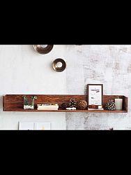 indickynabytok.sk - Polica na stenu Rami 50x15x22 indický masív palisander, Svetlomedová