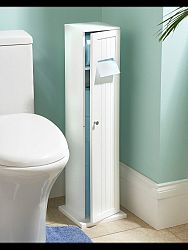 indickynabytok.sk - Skrinka na toaletný papier 20x80x20 indický masív palisander, Antique white
