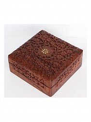 indickynabytok.sk - Šperkovnica 15x6,5x15 z indického masívu palisander