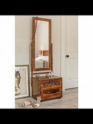 indickynabytok.sk - Toaletný stolík so zrkadlom Mira 50x40x175 indický masív palisander, Svetlomedová