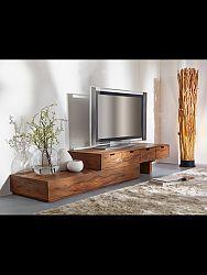 indickynabytok.sk - TV stolík 260x40x60 indický masív palisander, Svetlomedová
