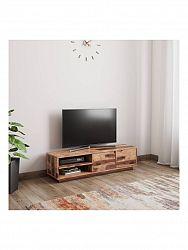 indickynabytok.sk - TV stolík Kali 140x35x35 indický masív palisander, Svetlomedová