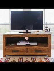 indickynabytok.sk - TV stolík Rami 97x46x56 indický masív palisander, Svetlomedová