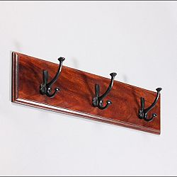 indickynabytok.sk - Vešiak s 3 háčikmi Jali 60x15x2,5 indický masív palisander, Orech