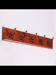 indickynabytok.sk - Vešiak s 5 háčikmi Jali 80x15x2,5 indický masív palisander, Natural
