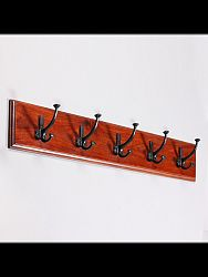 indickynabytok.sk - Vešiak s 5 háčikmi Jali 80x15x2,5 indický masív palisander, Orech