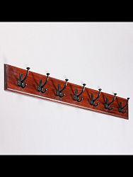 indickynabytok.sk - Vešiak s 7 háčikmi Jali 100x15x2,5 indický masív palisander, Orech