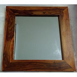 indickynabytok.sk - Zrkadlo Gani 60x60x2,5 indický masív palisander, Svetlomedová