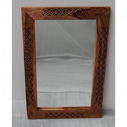 indickynabytok.sk - Zrkadlo Mira 90x60x2,5 indický masív palisander, Svetlomedová