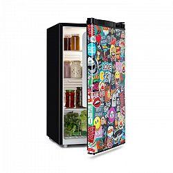 Klarstein Cool Vibe, chladnička, A+, 90 l, VividArt Concept, štýl manga, čierna
