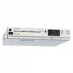 Auna KCD 20, strieborné, spodne zabudovateľné kuchynské rádio s FM RDS, CD, USB, MP3