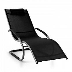 Blumfeldt Sunwave, záhradné lehátko, hojdacie ležadlo, relax, hliník, čierne