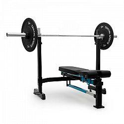 Capital Sports Benchex posilňovacia lavička, šikmá a plochá lavička, zaťažiteľnosť do 250 kg, modrá farba