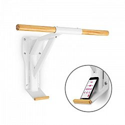 Capital Sports Light, tyč na zdvihy, oceľ, drevo, držiak na smartfón, biela