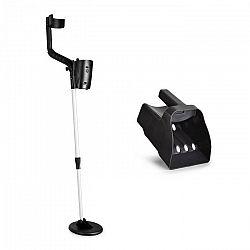 DURAMAXX Basic One, sada na hľadanie pokladov, detektor kovov + lopatka so sitkom, 16,5 cm sonda